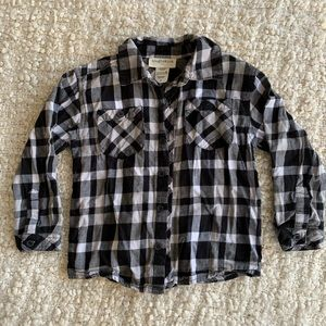 3/$15 black and white flannel shirt
